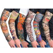 Nsstar 6pcs/10pcs/20pcs Fake Temporary Fake Slip on Tattoo Arm Sleeves Body Art Arm Stockings Accessories (6PCS