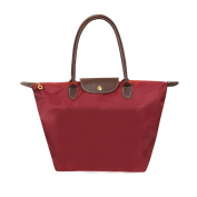 Witery® Fashion Designer Waterproof Casual Nylon Tote Bag / Top Handle Handbags / Shoulder Bag Deep Red