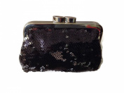 Victoria's Secret Coin Purse Black Sequin Bag Clutch W Gift Box - Tiny - Angels Forever by Thorlight