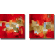 Lanie Loreth 'Downtown Rain I and II' 2-piece Canvas Art Set