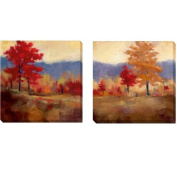 Karen Margulis 'Fall Splendour I and II' 2-piece Canvas Set