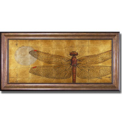 Patricia Pinto 'Dragonfly on Gold' Framed Canvas Art