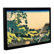 ArtWall Katsushika Hokusai 'The Fuji Seen From The Mishima Pass' Gallery-wrapped Floater-framed Canvas