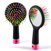 Hair Tamer Rainbow Detangling Hair Brush, Detangler Brush for Curly, Thick, Wet Hair