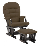Shermag Combo Espresso Slam Dunk Glider Chair and Ottoman, Mocha