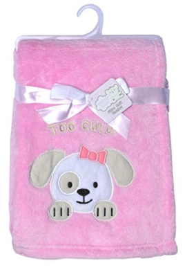 """Snugly Baby """"Too Cute!"""" Plush Blanket (Pink)"""