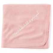 Pink Knit Religious Baby Blanket
