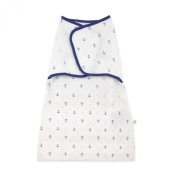 Just Born 100% Cotton Simply Secure Swaddle, Sea Anchor Blue