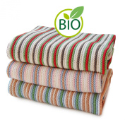 SonnenStrick 100% Organic Cotton Knitted Baby Blanket (Striped) Made in Germany