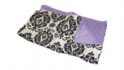 Jojo's Boutique Damask Lavender Blanket 90cm W x 80cm L
