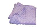 Jojo's Boutique Lavender Minky Baby Blanket 80cm W x 90cm L