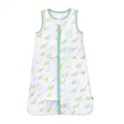 Just Born Wear-a-Blanket, Giraffe, Medium, White/Green