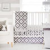My Baby Sam Imagine 3 Piece Crib Bedding Set, Grey, White