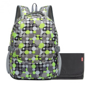 Damero Travel Backpack Nappy Bag with Changing Pad and Metal Loop for Stroller Hook