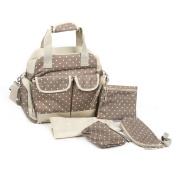 Baby Nappy Bag Nappy Tote Mummy Handbag Backpack, Khaki Dot