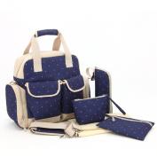 Nappy Tote Bags Baby Nappy Bag Mummy Handbag Backpack,Dark Blue Dot