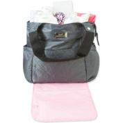 Baby Essentials 4-Post Nappy Tote, Grey/Pink