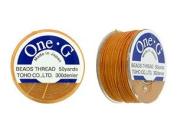 Toho One-g Nylon Beading Thread Orange 50 Yards
