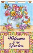 Jewelled Beads Kit 41cm X 60cm Banner ~ Floral Watering CAN