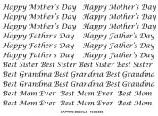 Happy Mother's Father's Day - Black 16CC555 Fused Glass Decals