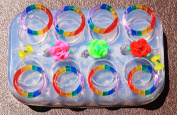 Sale!! BIG Multi-Clear-silicone Ring Moulds 8ps rings+3 rose size mix!(304) Shipping in 3-5 business days.
