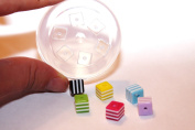 Sale!! Clear-silicone beads Moulds,6- pc.Good for pendants,earrings, bracelet, art,craft. 8mm.
