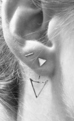 Leiothrix Distinct Alloy Triangle Sliver Earrings for Women and Girls Suitable for Weeding Party Casual