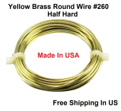 12 Ga Round Half Hard Yellow Brass Wire
