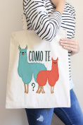 Como Te Llamas Tote Bag in Natural Colour
