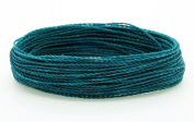 TEAL 1mm Waxed Polyester Twisted Cord Macrame Bracelet Thread Artisan String