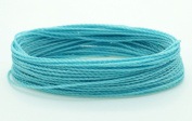 BABY BLUE 1mm Waxed Polyester Twisted Cord Macrame Bracelet Thread Artisan String