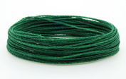 GREEN 1mm Waxed Polyester Twisted Cord Macrame Bracelet Thread Artisan String