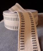 PoshNPretty Polyester Blend Burlap Webbing Ribbon with Stitching, 3.8cm Inches X 10 Yards - Black