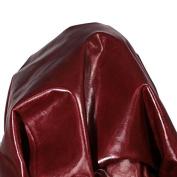 NAT Leathers Burgundy 25cm X 25cm Square Cutting Lightweight Garment Glazed Thin Soft Cowhide Genuine Leather Hide Skin