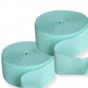 2 Mint Green Streamers 25m Crepe Paper Party Decoration
