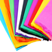 90cm x 50cm Crepe Paper Wrapping Florist Craft Streamers Party Birthday Hanging Deco Pack of 10