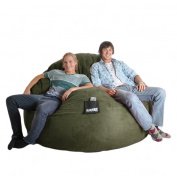 Round 1.8m Olive Green Microfiber and Foam Bean Bag