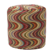 Frequency Tomato Tapestry Pouffe Ottoman