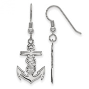925 Sterling Silver Rhodium-plated Sororities Alpha Sigma Tau Small Dangle Earrings