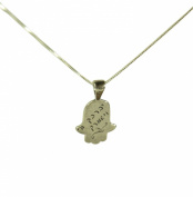 Birkat Kohanim Sterling Silver Hamsa Hand Charm Necklace for Protection