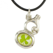 Genuine Four-leaf Lucky Clover Crystal Amber Necklace, Lucky Calabash, Call for Money! The Luckiest Jewellery Ever! Beautiful Meaningful Memorable . Forever!