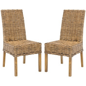 Safavieh St Thomas Indoor Wicker Brown Side Chairs