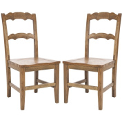 Safavieh Chatel Oak Finish Side Chairs