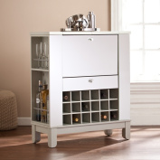 Upton Home Martindell Mirrored Fold-Out Wine/ Bar Cabinet