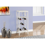 Home Bar 100cm White Metal Wine Bottle and Glass Rack