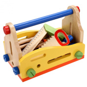 Arshiner Toddler Kids Wooden Multi Functional Nut Combination Toys Building Block Set