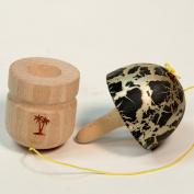 Bahama Kendama Mushroom Pill Kendama- Reverse Spike - Black over Gold
