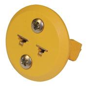 Digi-Sense Miniature Round Panel Mount, Type-K Thermocouple Female Connector, 2 Pin