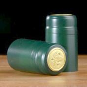 Heat-Shrink Wine Bottle Capsules (Green, Matte), 100 Count