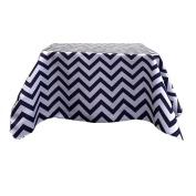 Tablecloth Polyester Chevron Square 150cm Black By Broward Linens